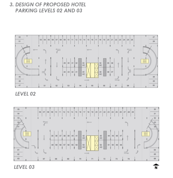 A look at the parking garage layout.