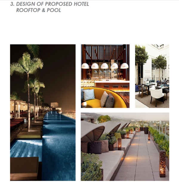 Inspiration for the hotel's rooftop and pool areas.