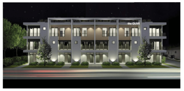 Olive Townhomes Downtown Orlando Development