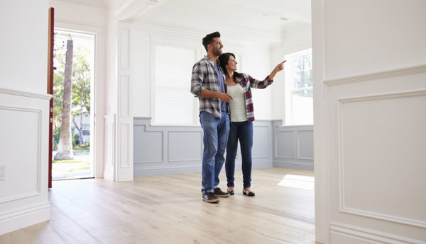 Home Buyers Looking at New Home