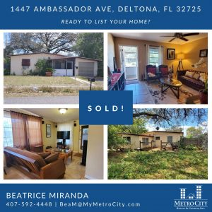 Just Sold 2 Bedroom Home in Deltona Lakes