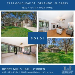 Just Sold 2 Bedroom Home in West Orlando