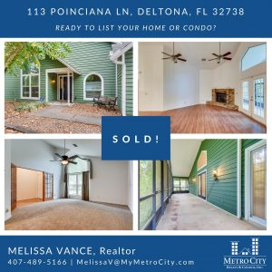 Just Sold 3 Bedroom Home in Deltona