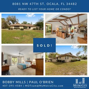 Just Sold 3 Bedroom House in Ocala