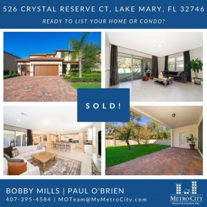 Just Sold 5 Bedroom House in Lake Mary