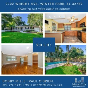 Just Sold 3 Bedroom Pool Home in Winter Park