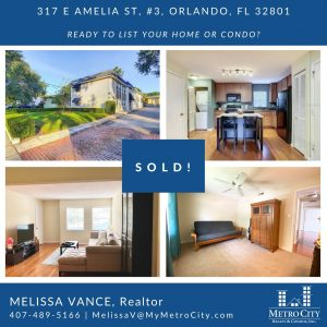 Just Sold 2 Bedroom Condo in Lake Eola Heights