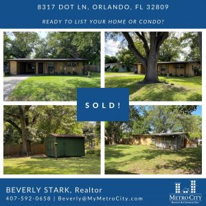 Just Sold 2 Bedroom Orlando FL Home
