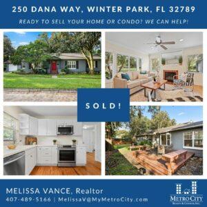 Just Sold 2 Bedroom Home in Winter Park FL