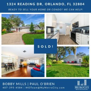 Just Sold 2 Bedroom House in College Park Orlando