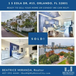 Just Sold 3 Bedroom Condo at Eola South
