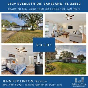 Just Sold 3 Bedroom Home in Lakeland