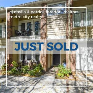 Just Sold 3 Bedroom Condo in Lake Eola Heights